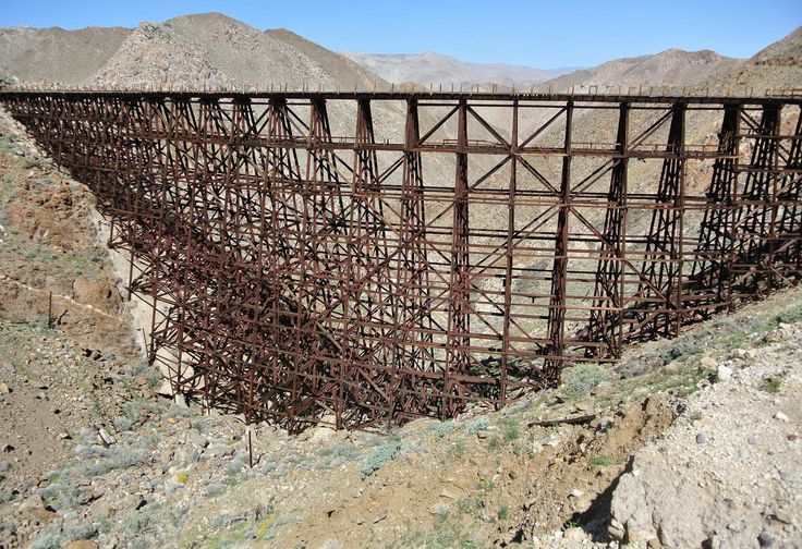"The Goat Canyon Railroad Trestle Anza Borrego. Distance: 4-6 miles. Hidden back in the desert mountains of Anza-Borrego State Park east of San Diego is the largest wooden railroad trestle in the world. This trek is not for the inexperienced hiker and will most likely take you a whole day. The ""trail"" is not marked or maintained and is pretty much non-existent. You'll have to do some navigating for this one."