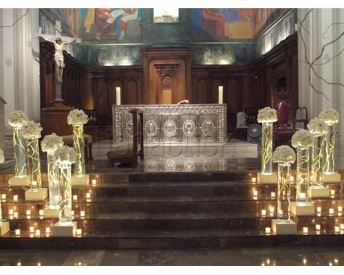 Increíbles arreglos de la iglesia para boda