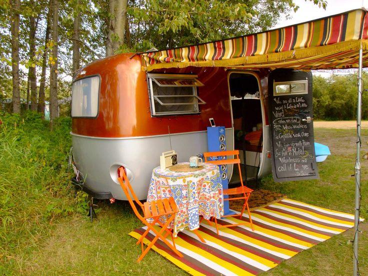 "Boler Trailer Rusty""B"" the Boler in Slave Lake, Alberta"