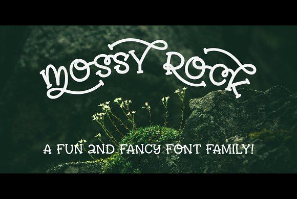 Mossy Rock fun font family! by missy.meyer on @creativemarket