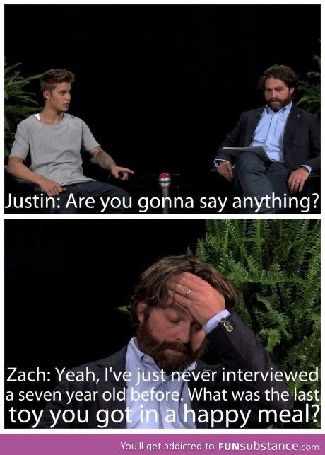 Interviewing Bieber…this interview was the best,  He told the biebs what every person in the world was thinking..