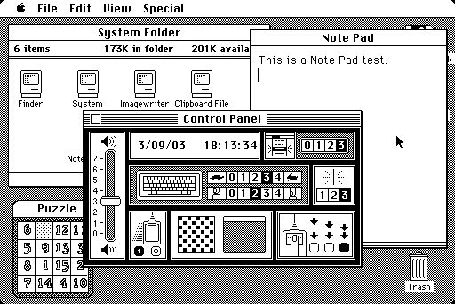 Desktop with applications in System 1.1