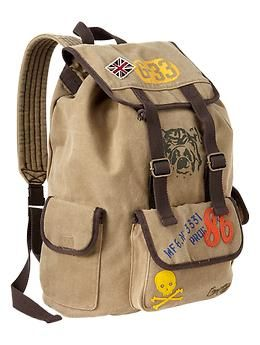 This backpack looks like it's ready for an adventure!  From Gap.