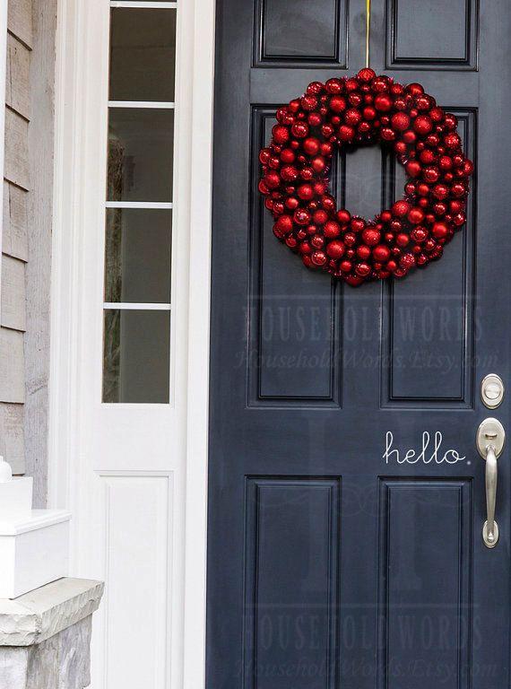 Hello Decal Welcome Door Decal Front Door Decals for Home and Office Decorations & 25+ unique Welcome door ideas on Pinterest | Door signs Boxwood ... Pezcame.Com