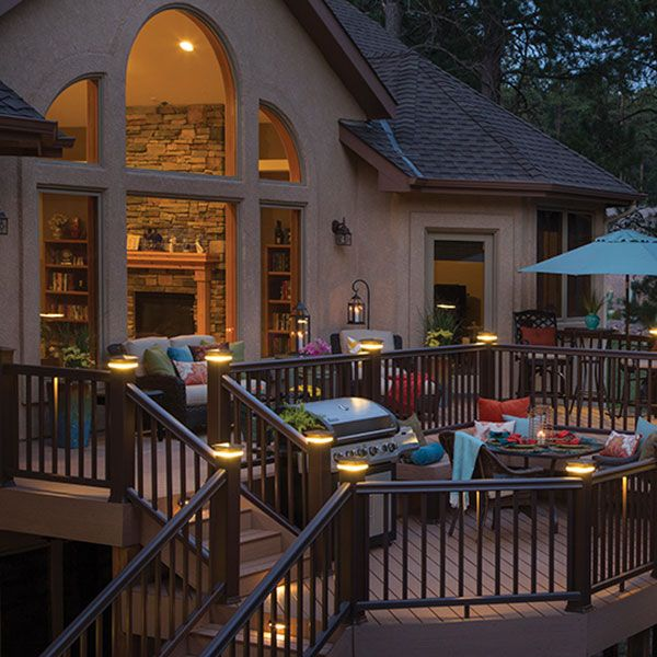 Deck Lights Pinterest: TimberTech DeckLites LED Post Light Modules And TimberTech