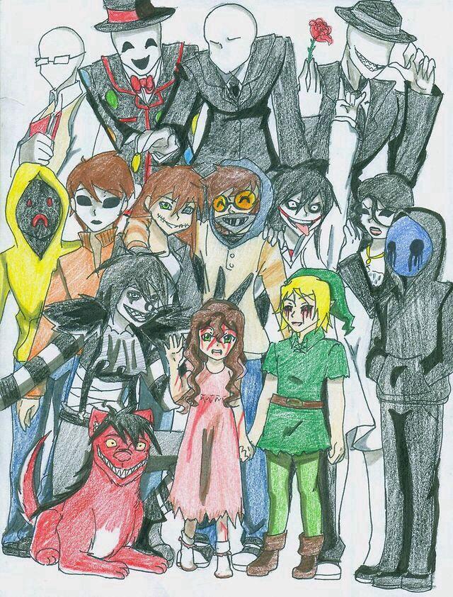 Jeff Killer Vs Jane Killer Coloring Pages