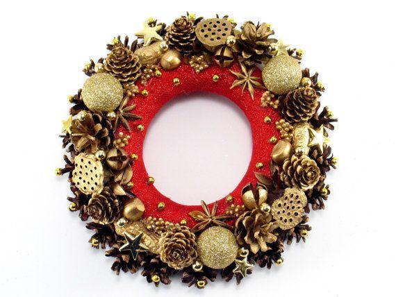 Christmas Wreath Winter Decorations Pinecone by ZielonePalce