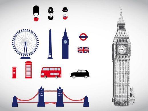Symbols Of London Vector - AI PDF - Free Graphics download