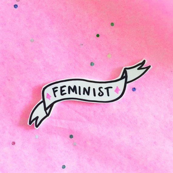 Feminist Banner Brooch Pin