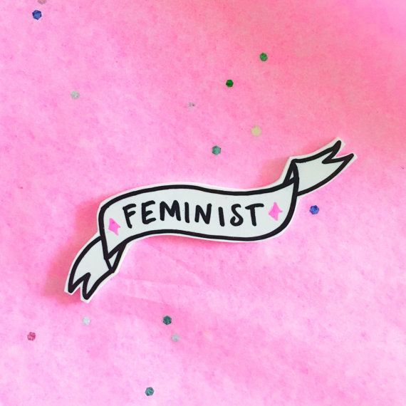 feminist bow pin