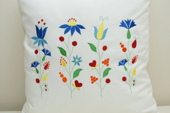 Folk cushion cover by AGASHE