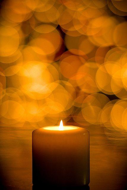 Candle & Bokeh Light