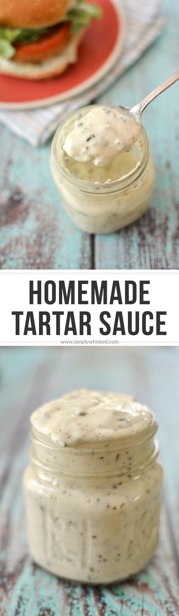 Homemade Tartar Sauce | @simplywhisked