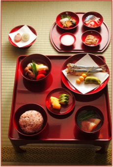 Japan's Emperor Cuisine for New Year Celebration (Reproduction)|宮中の祝い膳