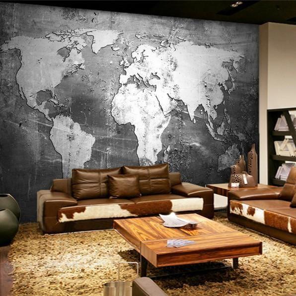 3d Gray Embossed World Map Wallpaper For Home Or Business Map Wallpaper World Map Wallpaper Mural Wallpaper