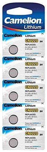 CAMELION – Lot de 5 piles lithium CR1220: Price:2.03Pack de 5 piles Camelion Lithium CR1220 3V Pack de 5 piles Camelion Lithium CR1220 3V…