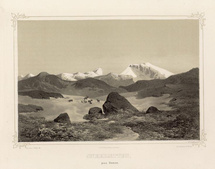"""Hans Gude - Sneehætten paa Dovre. Illustrasjon hentet fra boken """"Norge fremstillet i billder"""" 1848 by Chr. Tønsberg. jpg (4864×3832)"""