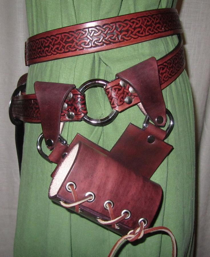 Double Wrap Belt with Removable Sword Frog, Medieval, Renaissance, SCA, LARP. $170.00, via Etsy.