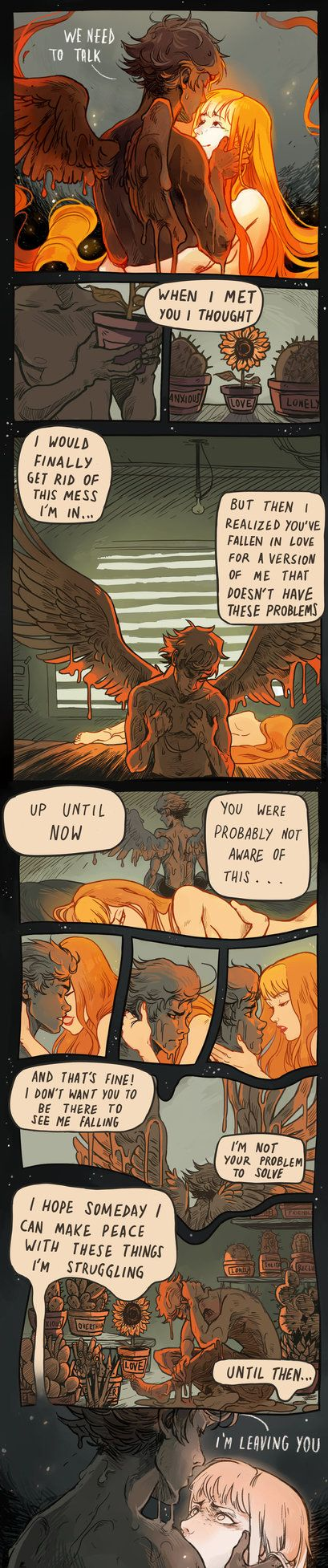 The Lament Of Icarus By Picolokun