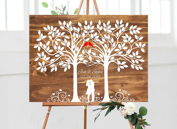 Alternative Wedding Guestbook - Wedding Tree Guestbook