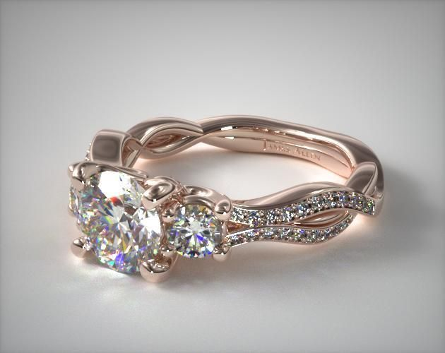 14K Rose Gold Three Stone Diamond Infinity Engagement Ring   SKU:17014R.  $1,790  With this stone>>>>>>>>>>>>>>> >>>>>>>>>>>>>>>>>>>>>>>>>>