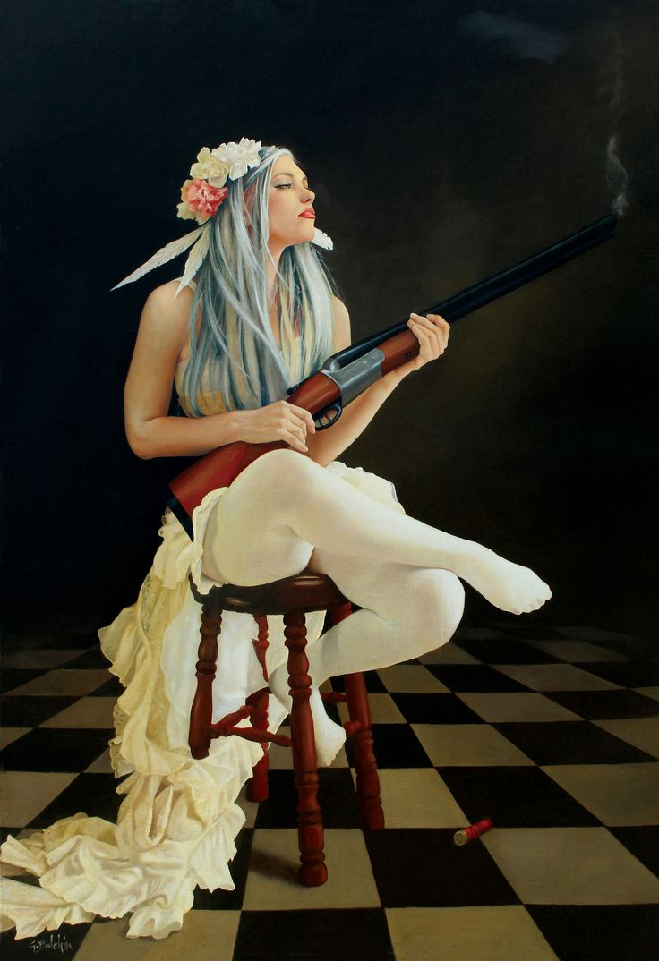 """""""Guardian Angel"""", painting by Graeme Balchin.  Visit Art Galaxie to see more of his paintings:"""
