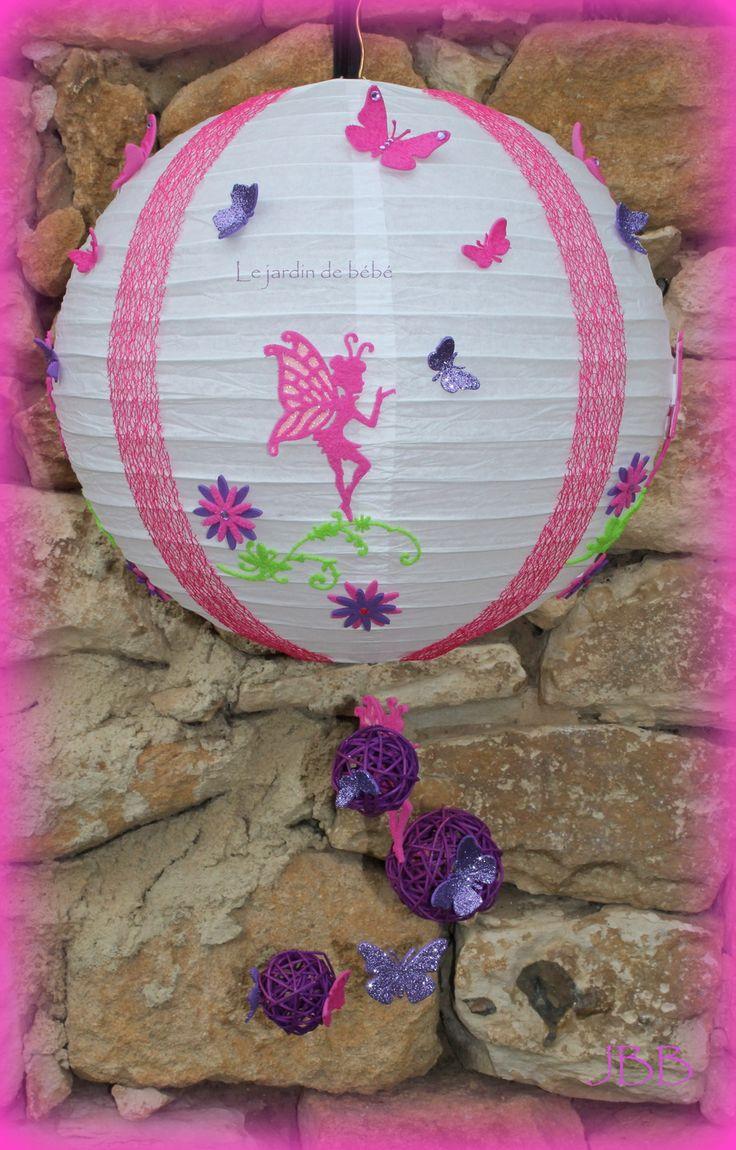 suspension boule chinoise blanche personnalisable et unique : Décoration pour enfants par le-jardin-de-bebe