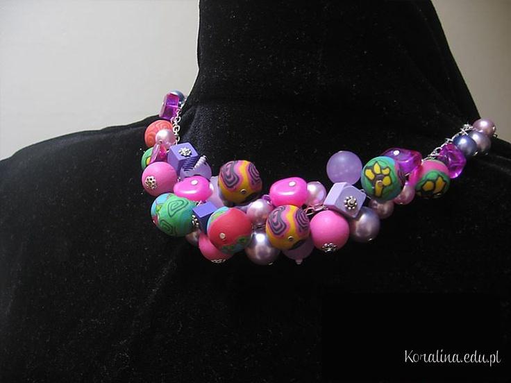 Millefiori fimo necklace