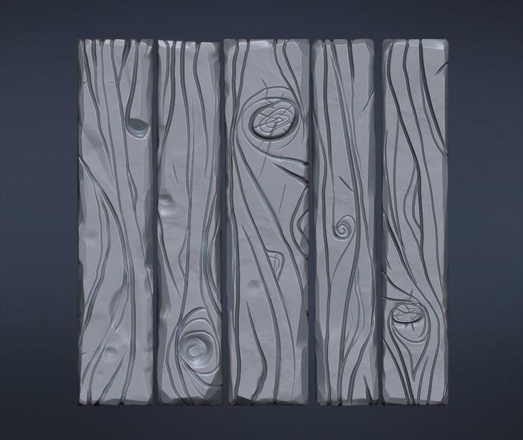 Afbeeldingsresultaat voor stylised wood zbrush