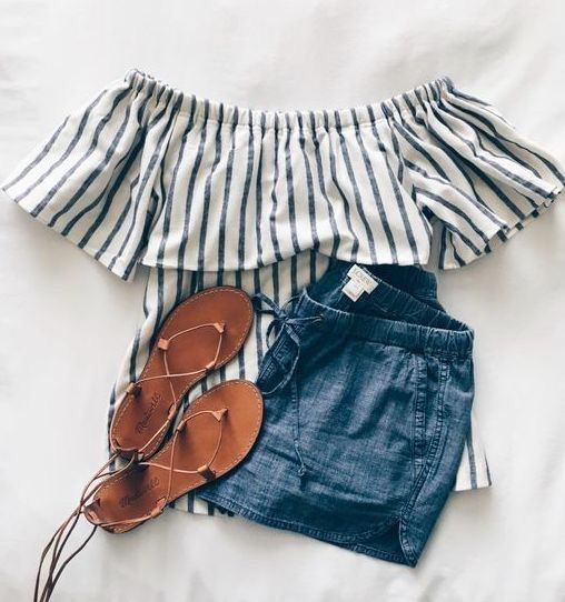 35 Adorable Outfits With Shorts For A Pretty Summer