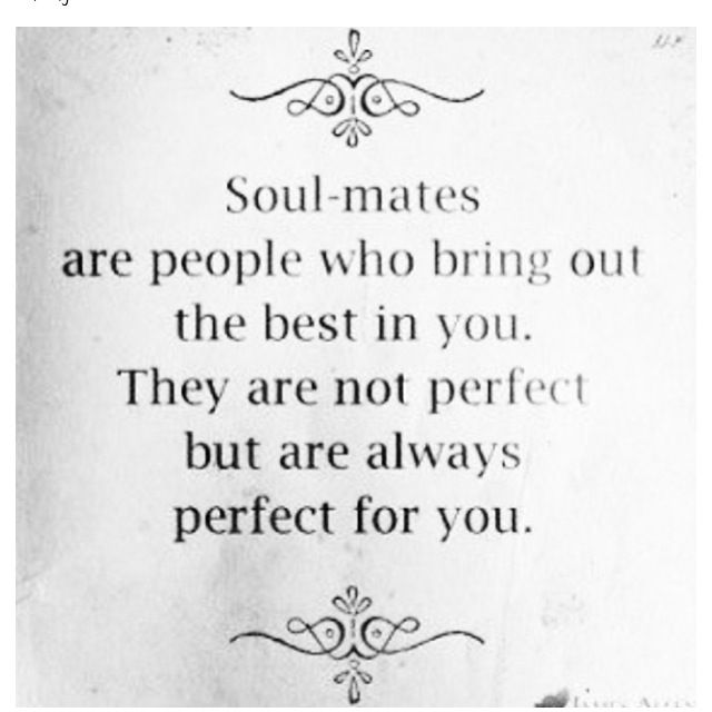 You are perfect for me. You are my SOULMATE, MY SAM!!