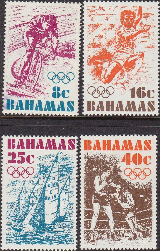 Bahamas 1976 Montreal Olympic Games Set Fine Mint SG 478 - 481 Scott 388 - 391 Other Commonwealth Stamps Here