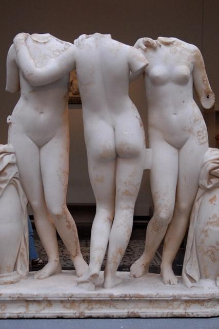 The Three Graces ca. 300 BCE; The Metropolitan Museum of Art.  New York, NY