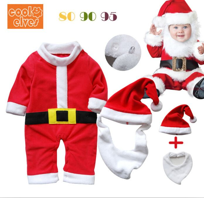 Find More Rompers Information about 3 pieces /set Father Christmas Baby Rompers Santa Claus Bodysuits With Santa hats, beard Christmas Gift For Baby Free shipping,High Quality gifts for business people,China gifts made of pearl Suppliers, Cheap hat pants from Welcome Tina's Shop  on Aliexpress.com