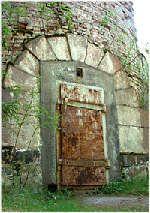 Ingången till fyren på Glosholm