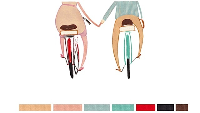 <3: Plays Bike, Inspiration Colors, Outfit, Illustration, Colorado Bike, Happy Bikes Thi, Bicycle Mountain Bike Trail, Colorado Our
