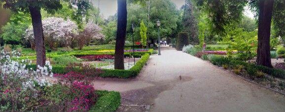 The botanical garden in Madrid.