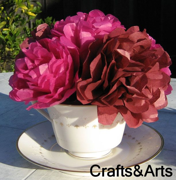 sweet flower craft 17 best ideas about tissue paper centerpieces on 3048