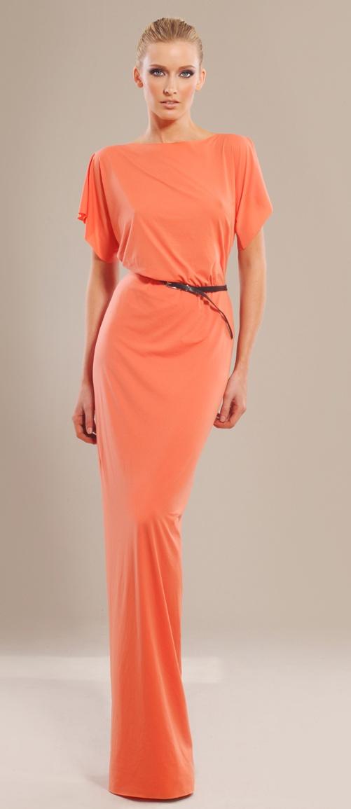 Coral stretch-jersey maxi dress  http://modafirma.com/boutique/tsyndyma/coral-stretch-jersey-maxi-dress-652