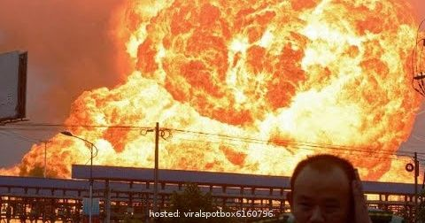 Fireworks factory lights on fire, see what happens next!