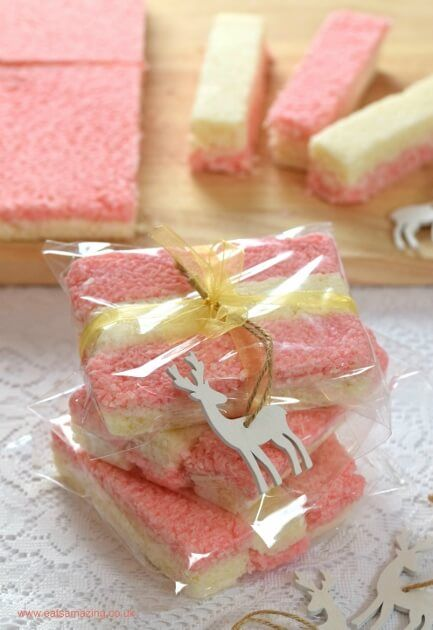 Easy recipe for Coconut Ice - Just 3 ingredients to make this delicious treat - homemade present idea from Eats Amazing UK