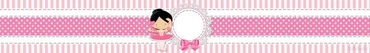 "Kit de Personalizados Tema ""Bailarina Rosa"" para Imprimir - Convites Digitais Simples"