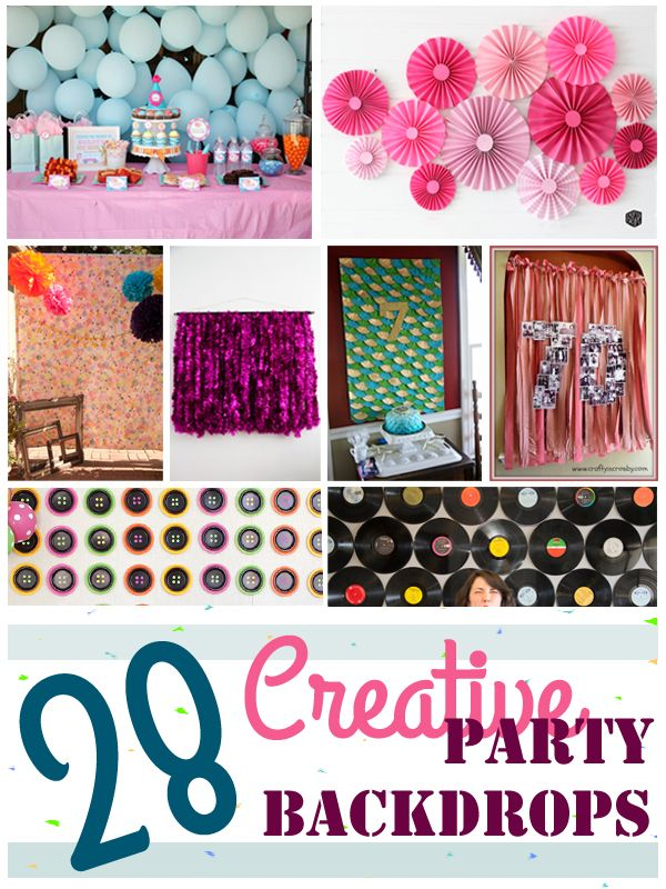 28 Creative Party Backdrops Collage #party