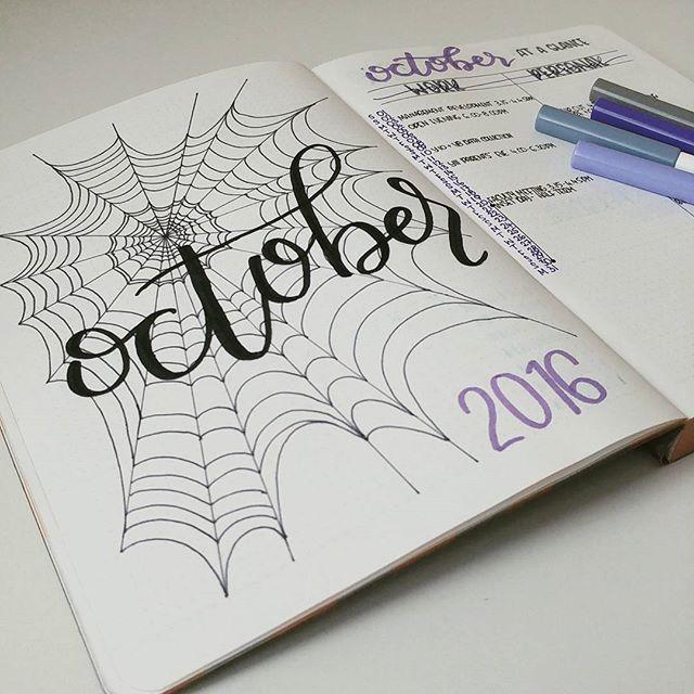 Portada de octubre. #Inspiración #BulletJournal