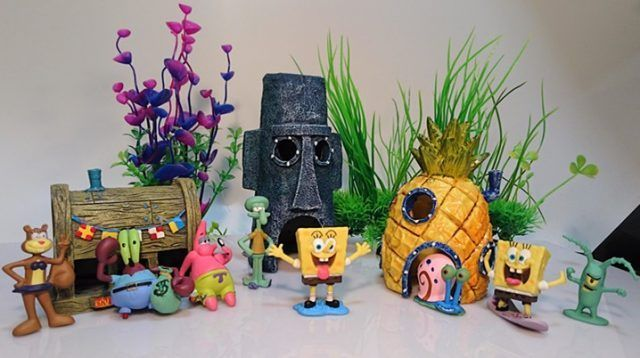 Best 25 spongebob squarepants house ideas on pinterest for Aquarium decoration set