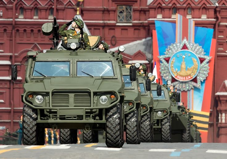 """Gaz-2330 """"Tiger"""", general rehearsal of the Victory Day's parade."""