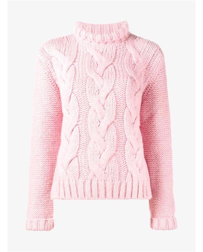 GANNI Cable Knit Brooks Polo Neck. #ganni #cloth #