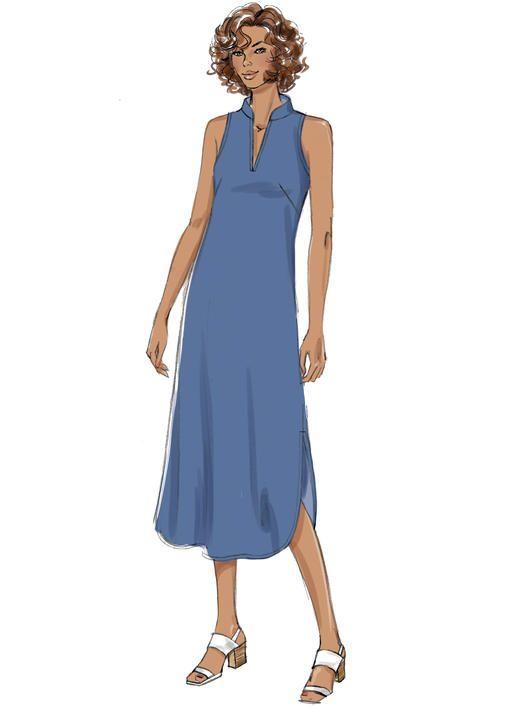 Butterick B6551 Misses\' Dress #sewingpattern #sewfast #seweasy ...