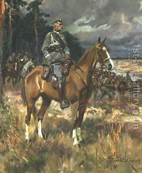 Wojciech Kossak:Pilsudski on Horseback