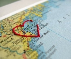 hand sewn maps.. great gift idea for family!
